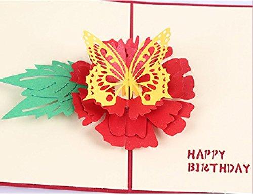 Hecho a mano 3D popup popup cumpleaños tarjeta de papel arte ...