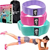 Magnetic Think Booty Bands Workout Resistance Hip Bands - Set of 3 Fabric Resistance Bands for Legs and Butt, Non Slip Hip Bands for Legs, Butt, Booty Building, Glute Bands