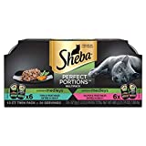 #9: Sheba Perfect Portions Multipack Garden Medleys 12 CT Twin Pack X6 Salmon & Vegetables and X6 Tuna & Vegetables Entree in Gravy (Total 24 Individual Servings)