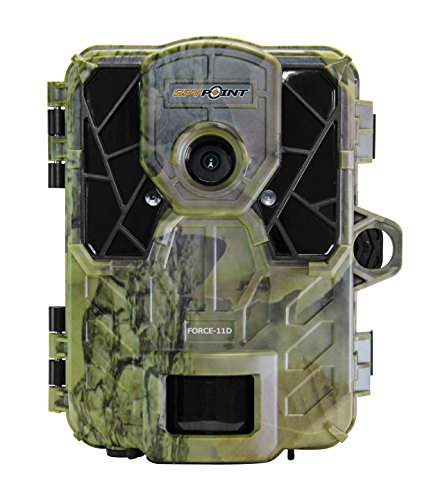 """Spypoint FORCE-11D Ultra Compact Trail Camera 11MP HD Video w/High Power LEDs, Blur Reduction & Infrared Boost Technology, 2"""" Viewing Screen, 0.07s Trigger Speed, 80' Detection & 100' Flash Range"""