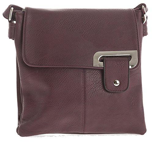 cruzado tamaño messenger Big mediano tipo Bolso para Shop Deep bandolera Handbag Maroon mujer RzyRq8c
