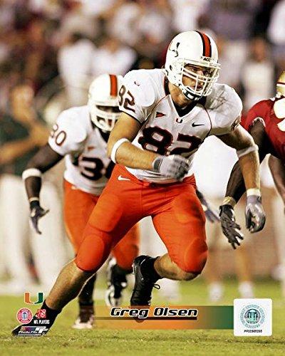 Greg Olsen Miami Hurricanes 2005 Action Photo (Size: 8