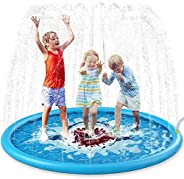 "Jasonwell Sprinkle & Splash Play Mat 68"" Sprinkler for Kids Outdoor Water Toys Inflatable Splash Pad"