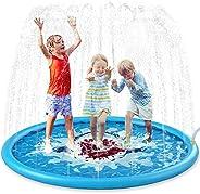 "Jasonwell Sprinkle & Splash Play Mat 68"" Sprinkler for Kids Outdoor Water Toys Inflatable Splash Pad"