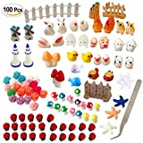 Atecy 100 Pcs Miniature Garden Ornaments Kit, DIY Fairy Garden Dollhouse Décor Review