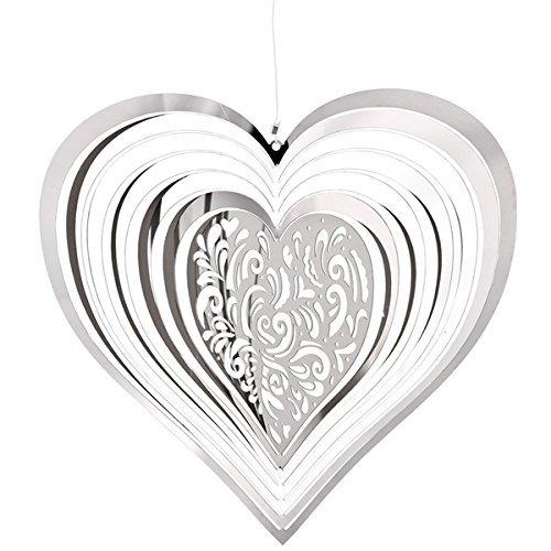 Woodstock Chimes Shimmers Filagree Heart Suncatcher ()