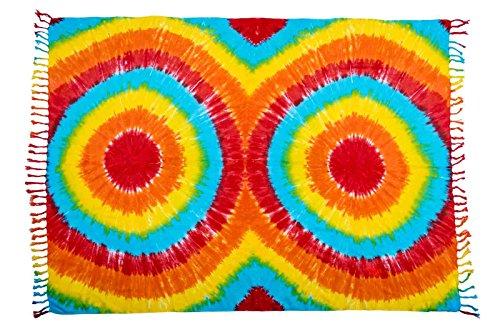 Ca 88 Original Ciffre Pareo Sarong Sarongs zur Auswahl Fair Trade Strandtuch Wickelrock Strandtuch Schals Halstuch Blickdicht Design by El-Vertrieb Batik 15 UXczeB
