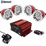 "UTV,ATV, Anti-Theft Bluetooth Motor Remote 3"" Motorcycle Waterproof Bluetooth Wireless Speaker 7/8-1 in"