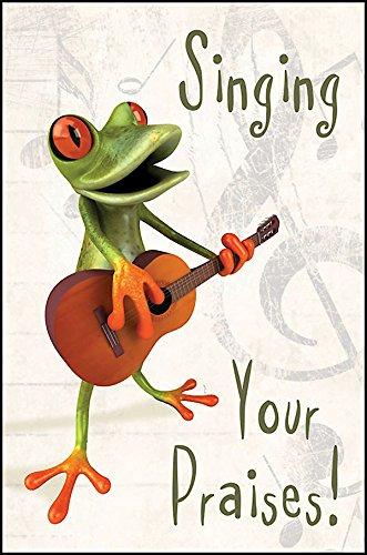 (Singing Your Praises! Frog Postcard (Pkg of 25))