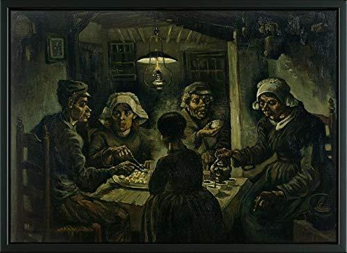 The Gogh Van Vincent Potato Eaters (Easy Art Prints Vincent Van Gogh's 'The Potato Eaters' Premium Framed Canvas Art - 14