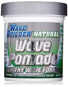 WaveBuilder Natural Wave Pomade   Healthy Hair & Scalp Formula Promotes Hair Waves, 3 Oz