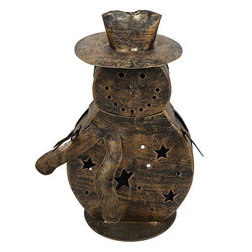 - CRAFTSTRIBE Snowman Metal Lamp Home Lawn Décor Tea Light Candle Light