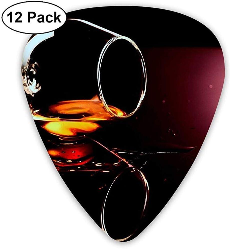 Paquete de 12 Elecciones de guitarra eléctrica clásica de moda Plectrums Brandy Glass Drops Instrument Bass Guitarist estándar