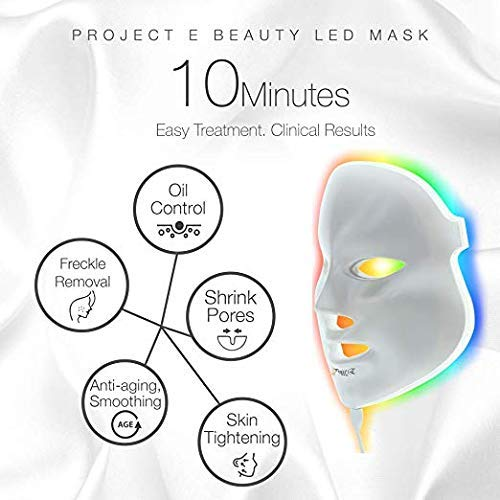 Light Therapy Mask for Acne, Wrinkles, Rosacea, Face - LED Face Mask Light Therapy