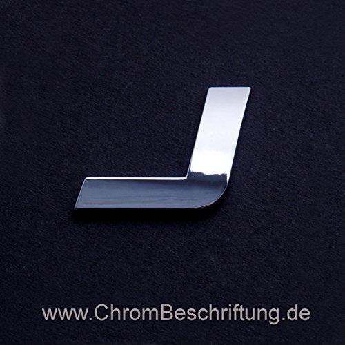 MBD-Chrombeschriftungen Chrombuchstaben Auto-Schrift 3D-Buchstaben J 26mm