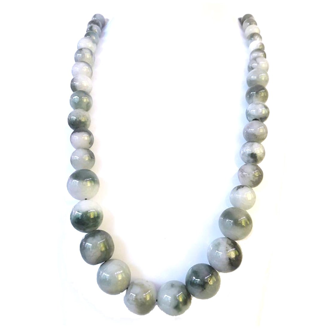 18 Natural Jadeite Jade Necklace Beads for Women Strand Mixed Size and Color KaratGem Jewelry MixedJNL