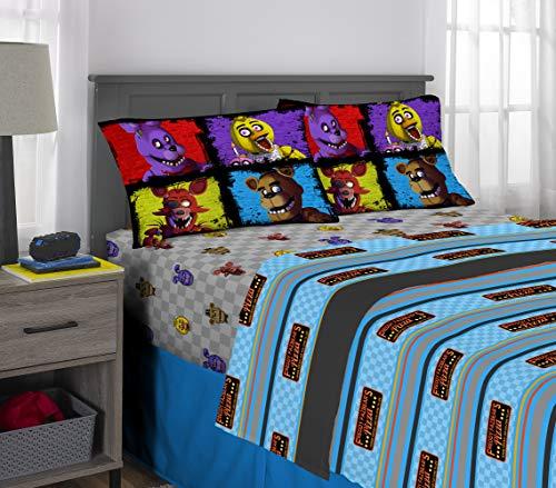 Franco Kids Bedding Super Soft Microfiber Sheet Set, 4 Piece Full Size, Five Nights at Freddy's