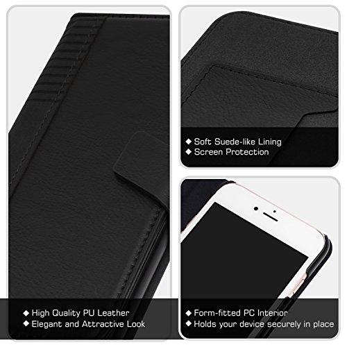 """MoKo Coque iPhone 8 Plus / iPhone 7 Plus - en Cuir PU avec Rabat et la Fente de Carte, la Fermeture Magnétique Anti-choc pour Apple iPhone 8 Plus / iPhone 7 Plus 5.5"""", Noir"""
