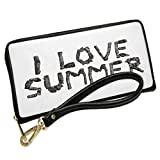 Wallet Clutch I Love Summer Coal Grill Fire Place with Removable Wristlet Strap Neonblond