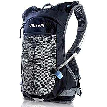 Vibrelli Hydration Pack & 2L Hydration Bladder - High Flow Bite Valve Hydration Backpack