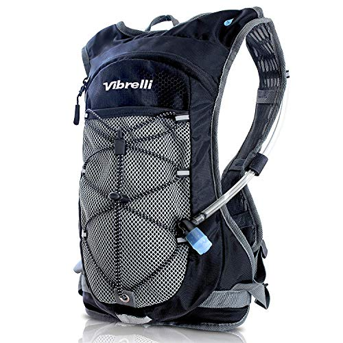 Vibrelli Hydration Backpack 2L Hydration Bladder – High Flow Bite Valve – Hydration Pack for Cycling, Running, Hiking