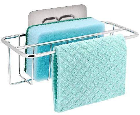 Bogeer Organizador de Fregadero para Esponja, Toallas de Cocina, Detergente and Estropajo Estante de Almacenamiento para…