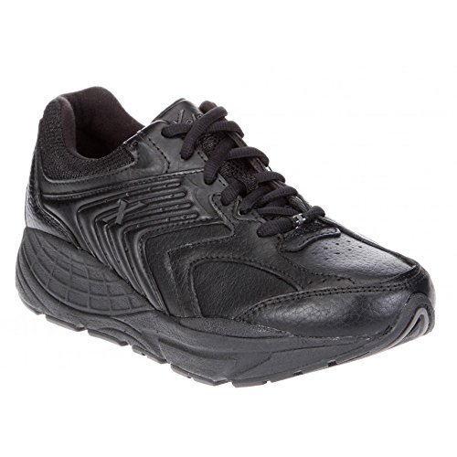 Xelero Matrix Women's Comfort Therapeutic Extra Depth Sneaker Shoe: Black 9.5 X-Wide (2E) Lace by Xelero