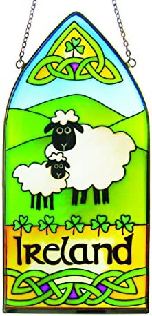 Irish Sheep Gothic Stained Glass Window Hang – Ireland