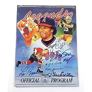 1991 Legends Magazine Anaheim Signed By Pele Brock Carlton Tittle Garvey Autographed Soccer Magazines