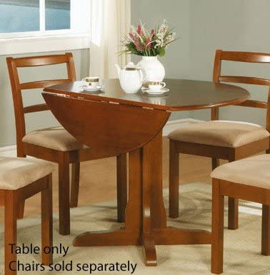 Poundex Double Drop Leaf Dining Table