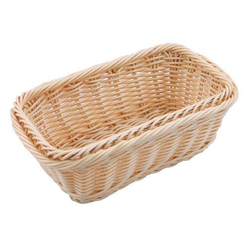 Paderno World Cuisine 4-Inch High Polyrattan Bread Basket, 1/4 Hotel Pan Size