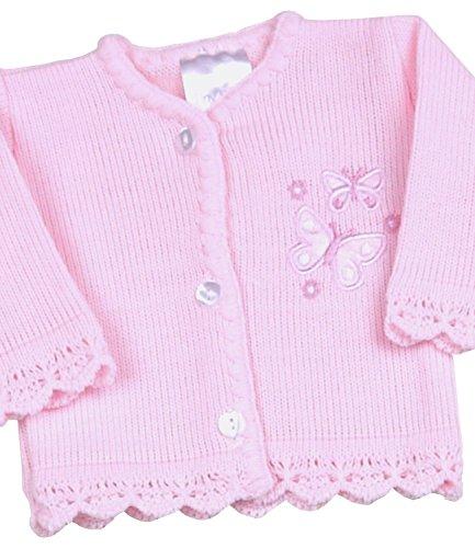 - BabyPrem Preemie Baby Cardigan Jacket Girl Knitted Pink Butterflies 3-5lb PINK