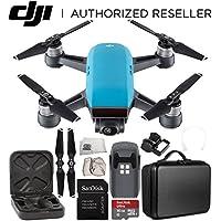 DJI Spark Portable Mini Drone Quadcopter Starter Portable Bag Shoulder Travel Case Bundle (Sky Blue)
