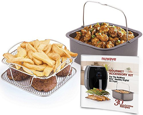 Nuwave Brio 6 Qt. Air Fryer-Red with Gourmet Accessory Kit by NuWave (Image #3)