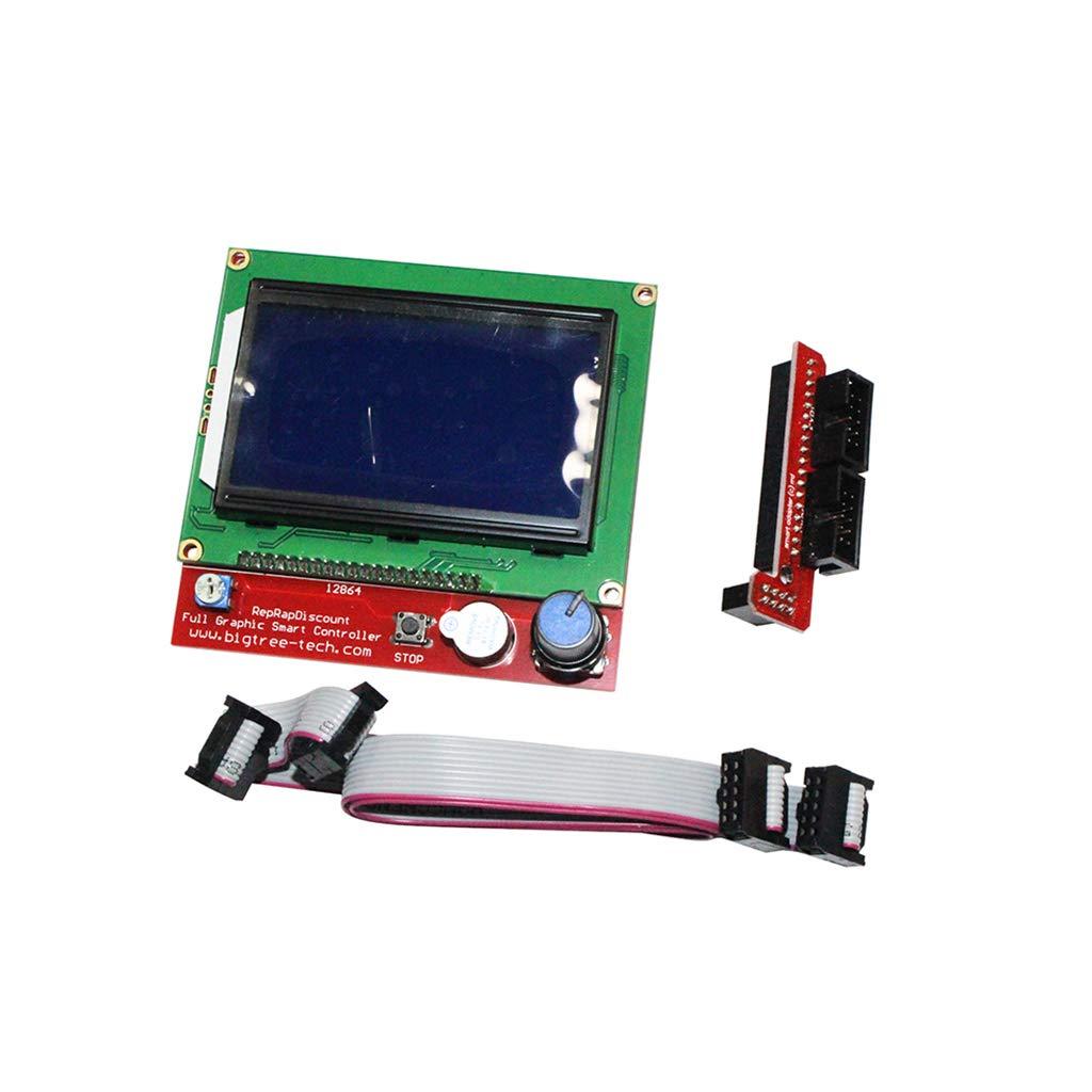 Biaobiaoc 3D Printer Kits RAMPS 1.4 Mega2560 12864 LCD Controller A4988 For Reprap