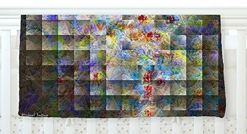 KESS InHouse Michael Sussna Yggdrasil Rainbow Abstract Fleece Baby Blanket 40 x 30 [並行輸入品]   B077ZV4D9J