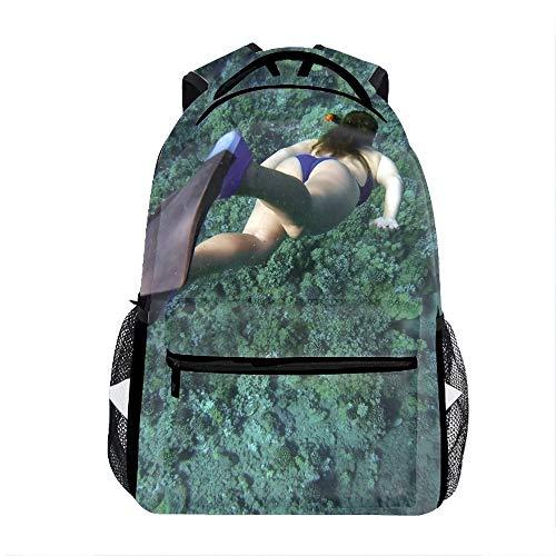 3D Snorkeling Snorkelling School Backpacks Travel Bags for Teen Girls Boys