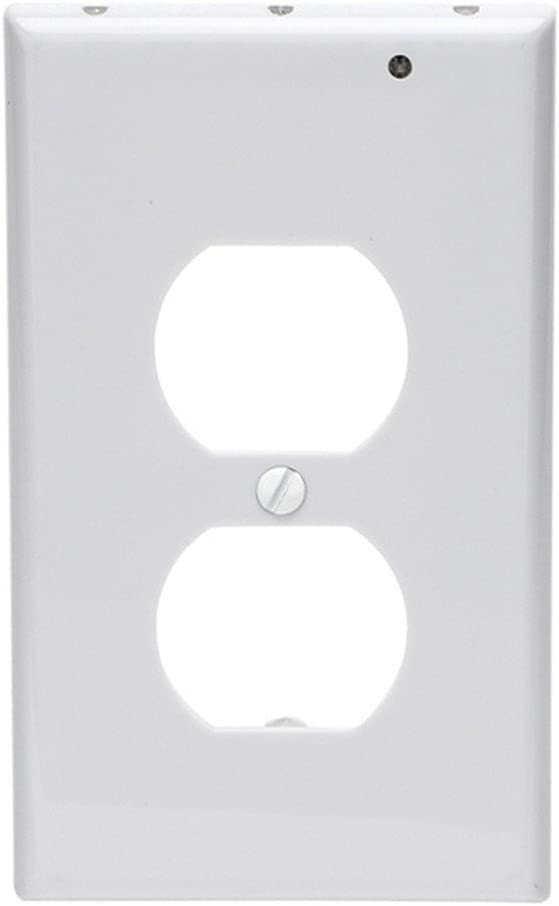 Outlet Wall Plate With Led Night Lights No Batteries Or Wires Installs In Seconds Duplex White Amazon Co Uk Lighting