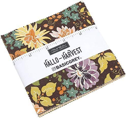 Halloween Charm Packs (Moda Fabrics Hallo Harvest Charm Pack 42 5-inch Squares)