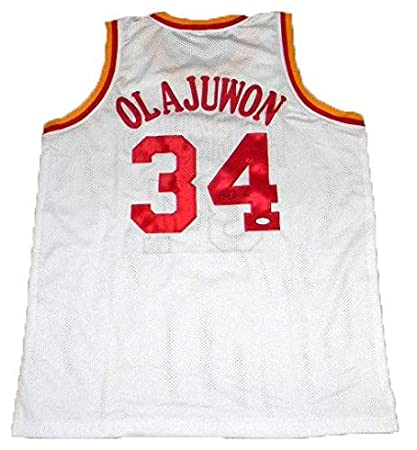 new arrival 3c198 5ad7f Autographed Hakeem Olajuwon Jersey - #34 - JSA Certified ...