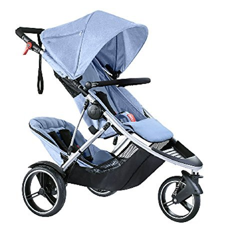 Phil and Teds Dash Buggy With Doubles Kit (Blue Marl) by phil&teds