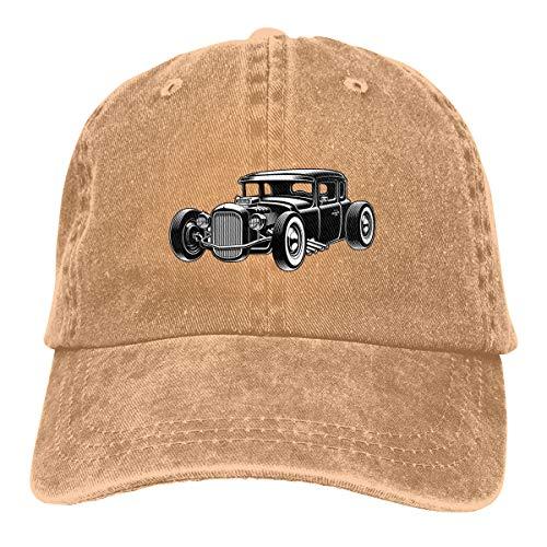 UYILP Hot Rod Baseball-Cap Cotton Hat Adjustable for Men Women