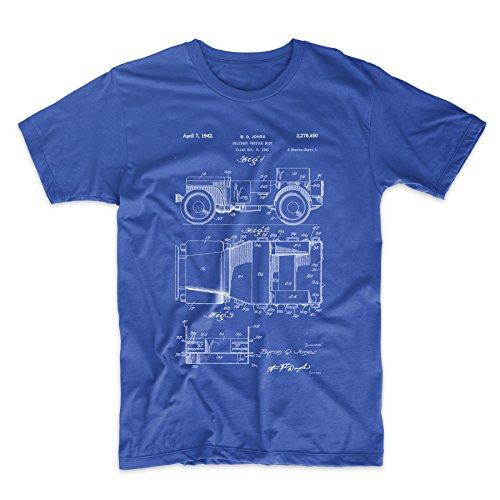 Amazon.com: patentprints Willy Jeep patente T Shirt, XL ...