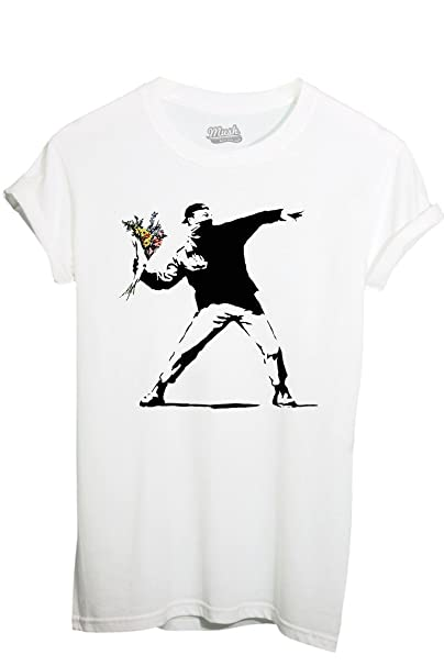 StyleAmazon it Fiori Dress Shirt Mush Your Banksy T Famosi By iOZuPkX