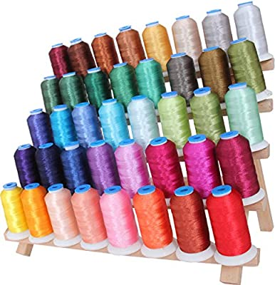 Threadart 80 Spool Polyester Embroidery Machine Thread Sets C/&D For Brother Babylock Janome Singer Pfaff Husqvarna Bernina Machines 500M Spools 40wt 2 Sets Available