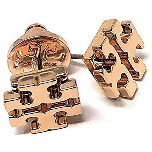 Tory Burch T Logo Small Stud Earrings Rose ()