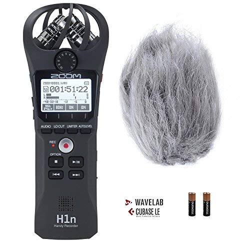 (Zoom H1n Handy Portable Digital Recorder Bundle with Movo Deadcat Furry Outdoor Windshield)