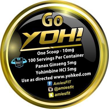 Yohimbine HCL 500mg + Panax Ginseng 500mg et 1g poudre - 100 portions à 10mg, plus forte Yohimbe Bark Extract Supplement - brûleur de graisse, endurance, contrôle de l'appétit, la Libido, etc., Amies FIT YOH!