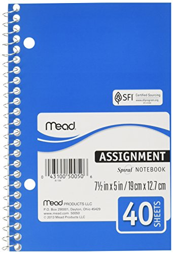 (Mead Spiralbound Assignment Notebook (Mead) )