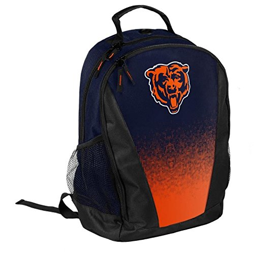 FOCO NFL Chicago Bears Logo Gradient Print Primetime Deluxe Backpack, Team Color, Standard by FOCO